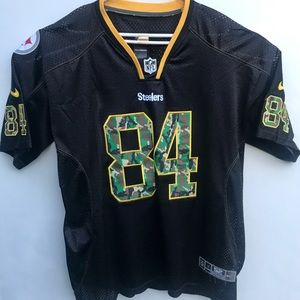 Nike On Field Antonio Brown NFL Camo Jersey Sz 52